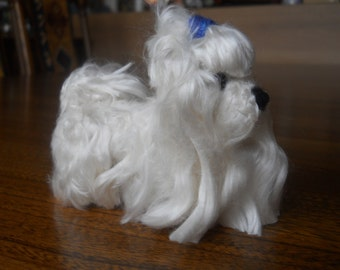 Custom Maltese needle felted dog - needle felted original animal soft sculpture. - small size - Dog Lovers Gift