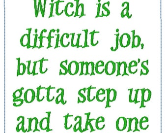 Being the family witch
