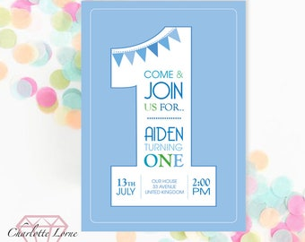 Birthday Party Invitation - Digital Download - Printable Invites - Personalised - Childrens Party Invite