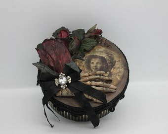 Victorian gothic keepsake box , with a scary touch