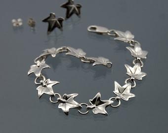 Ivy leaf bracelet, Elvish bracelet made in 925 sterling silver
