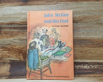 Jake McGee and His Feet, 1980, Mary Waldorf, vintage kids book