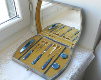 vintage French 8 piece manicure set complete in the original box