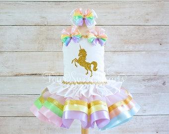 Birthday Unicorn Outfit, Rainbow Unicorn Outfit, Unicorn Birthday Outfit, Unicorn Outfit, Rainbow Dress, Rainbow Tutu, Unicorn Dress