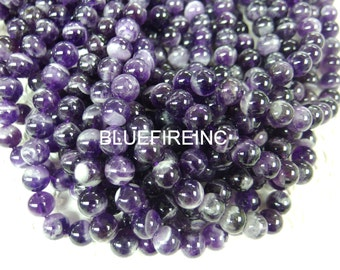 12mm 32 pcs Round Smooth A grade Dogtooth Amethyst  Beads Full Strand