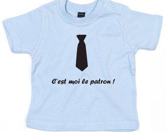 """Personalized baby shirt """"belongs to me the boss"""""""