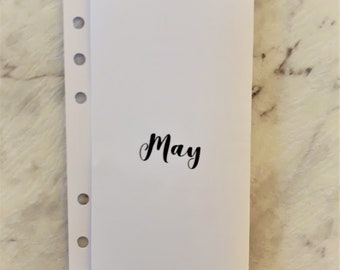 Personal Planner Monthly Printable - May (Black)