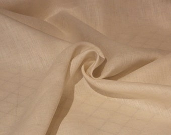 NEW Light-weight Oatmeal Linen fabric by the yard//Ivory Linen