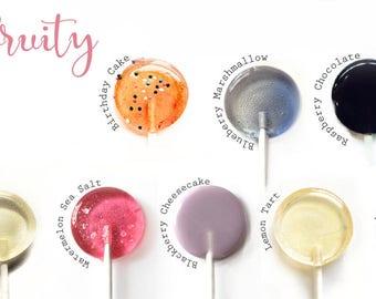 Spring Lollipop Sampler  // Sweet and Fruit // 20 Lollipops // 10 Different Flavors  // Spring Wedding Favors // Summer Weddings