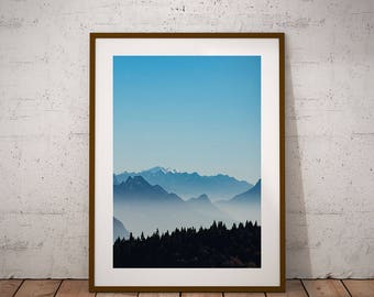 Winter print-Winter wall art, mountain printable, instant download, mountain calling, mountain photography, mountain photo, nordic prints
