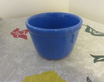 Vintage Blue Oxford Ware Mixing Bowl