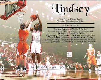 Basketball Name Meaning Origin Print Name Personalized Certificate 8.5 x 11 Inches Custom  Name Basketball 2 Personalized Today ETSY Store