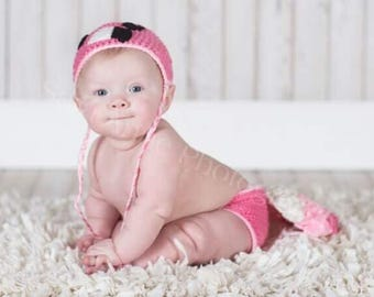 Flamingo Photo Prop, Flamingo Baby Costume, Crochet Photo Prop, Newborn Photo Prop, Photo Costume, Baby Crochet Outfit, Baby Girl, Girl Prop