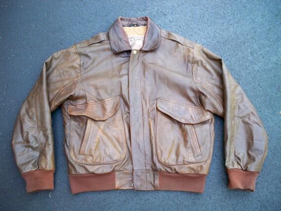 Vintage Schnee's Light Brown Cotton Flight Motorcycle Biker Riding Men's Jacket Coat Size Medium Cadts