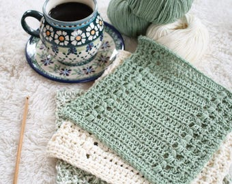 Crochet Pattern - Hand Towel Pattern - Crochet Dishcloth Pattern - River's Edge P116