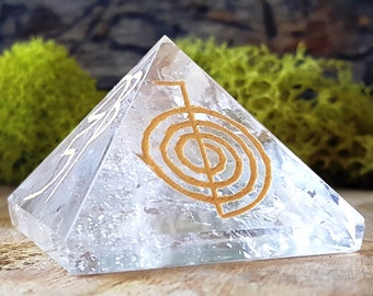 Crystal Quartz Reiki Crystal Pyramid -  620