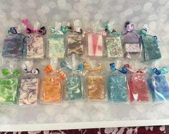 Soap Pack - Custom Soap Party Favors - Soap Baby Shower Favors - Soap Bridal Party Favor - Soap Birthday Party Favors - Scented Soap Samples