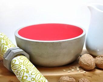 Cuenco para fruta grande   Cuenco de Hormigón Moderno   Ensaladera individual   Tazón de cereales   Tazón de fruta   Caja para joyas