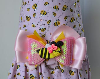 Dog Harness Vest -Bee-utiful Bees