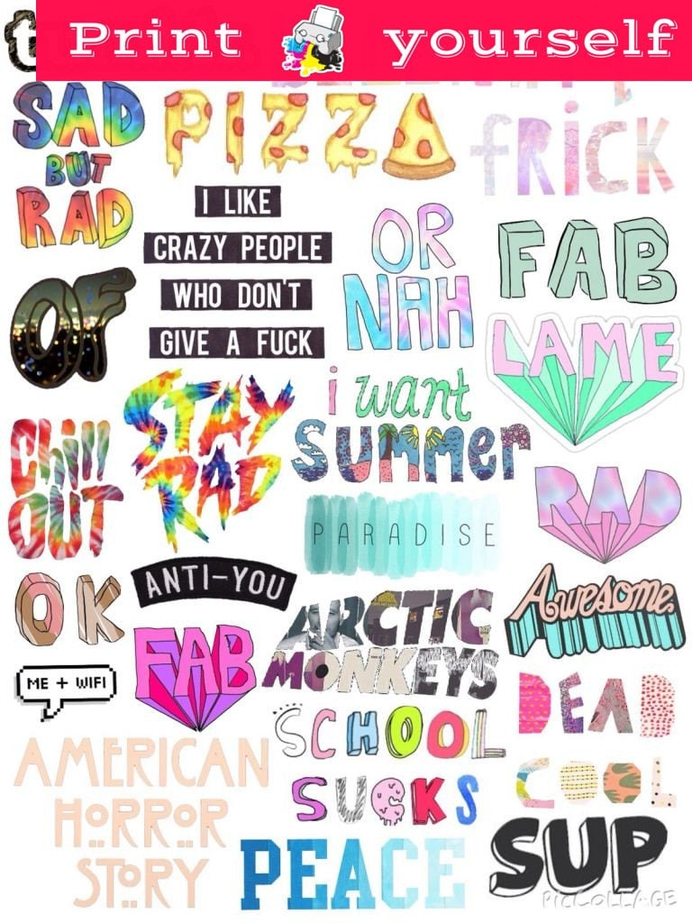 This is a photo of Unusual Printable Stickers Tumblr