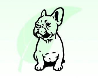 French Bulldog Vinyl Decal Sticker 029