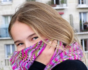 Colorful luxury pure cashmere scarf