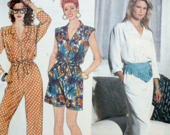 Misses Jumpsuit Sewing Pattern - Misses Romper Sewing Pattern - Simplicity 9741 - New - Uncut - Size 4 - 6 - 8 - 10