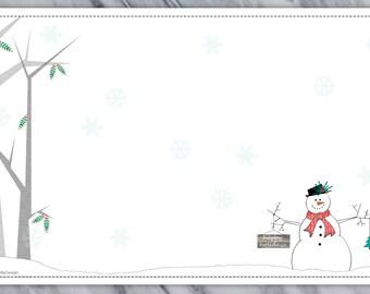 Snowman Greetings Note Pad