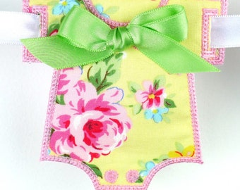 Baby Onesie and Diaper Custom Embroidery fabric Banner