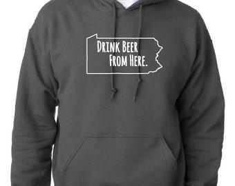 Craft Beer Hoodie- Nevada- NV- Drink Beer From Here SvEzjtug