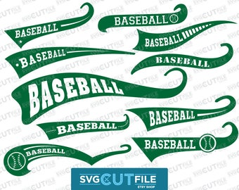 Baseball Swoosh text tail svg, swash swish underline vector dxf, swishes swashes swooshes font word ending sports file, cricut cameo digital