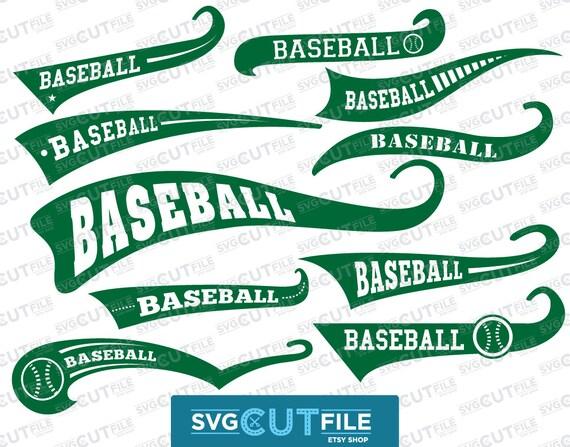 Baseball Swoosh Text Tail Svg Swash Swish Underline Vector