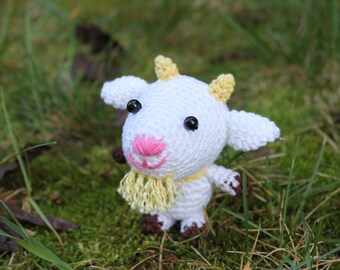Amigurumi goat stuffed crochet animal