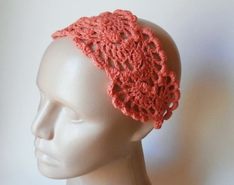 ON SALE 15% OFF Crochet  Bandana - Crochet HairBand - HeadBand - Hair Accessories - Crochet HairBand in Orange