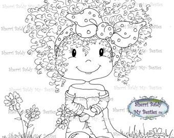 INSTANT DOWNLOAD Digital Digi Stamps Big Eye Big Head Dolls Digi  My Besties IMG148 Knobby Knee Bestie By Sherri Baldy