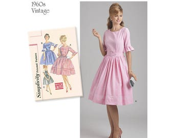 Simplicity 8591 Misses' and Petites' Vintage Dress