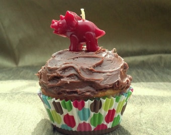 Triceratops Beeswax Birthday Candle, Pick a Color - The Good Dinosaur