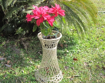 woven bamboo plant stand very sturdy planters plant stands