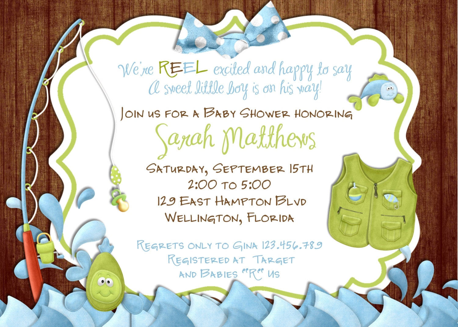 Underwater Themed Baby Shower Invitations Fanci Prints by Tiffany ...