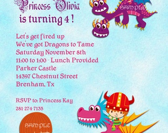 Princesses and Dragons Invitation