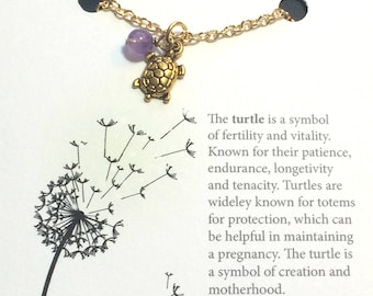 Gift Under 20, Turtle Necklace, Gift for Her, IVF, IUI, Ready to Ship Gift, Stocking Stuffer, Secret Santa, Infertility, TTC, Fertility
