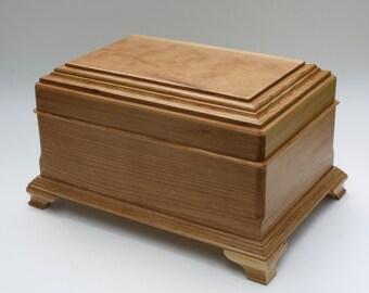 wood jewelry box wooden jewelry box keepsake box felt lined