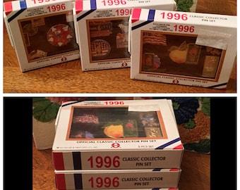 Lot of Three (3) Sets / Boxes 1996 ATLANTA OLYMPICS Classic Collector Lapel PINS