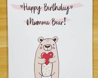 Handmade Cards - Bears, Happy Birthday Card, Cards