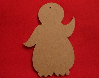 Penguin Ornament Unfinished Mosaic BaseMdf Craft Shape