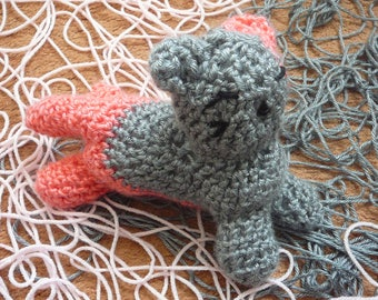 Combo cat / Mythical cats / crochet cat plushy / pink and grey cat