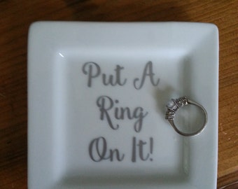 Put A Ring On It! ring holder and jewelry catchall