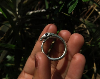 Size 9 Ouroboros Sterling Silver Ring