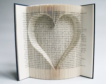 Inverted Heart Book Folding
