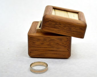 Engagement ring box Wedding ring box  Unique ring case Rustic wooden ring holder Jewelry box  Personalized Gift of wood Storage box